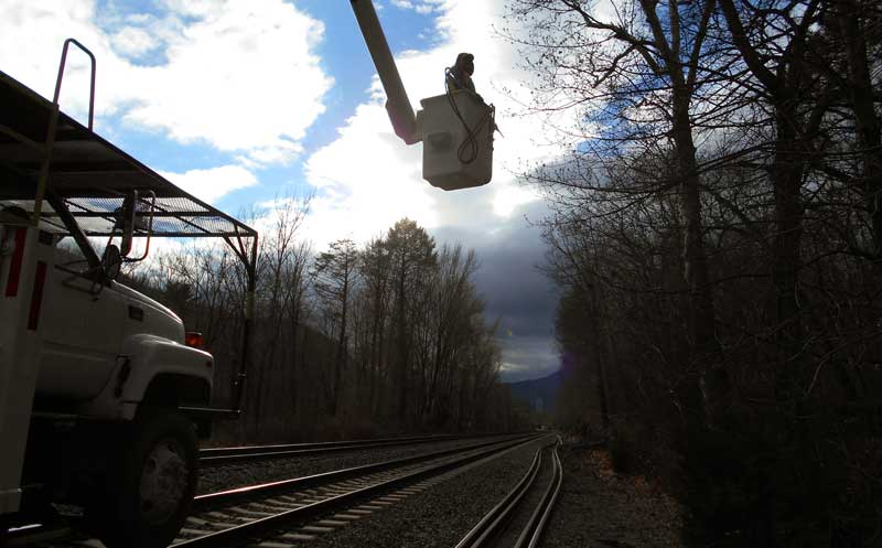 clearing railroad tracks