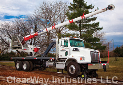 clearway industries truck with boom