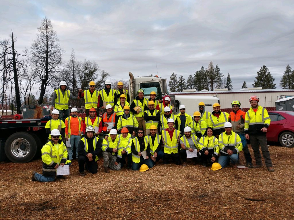 Photo of the Clearway Industries Tree-Clearing Tree-Trimming in California Crew 2019