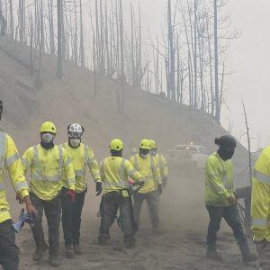Clearway Emergency Response Crew Cleaning Up Damage from California Wildfires