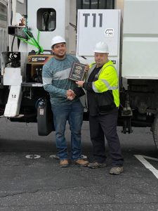 Employee Receives ClearWay Safety Award
